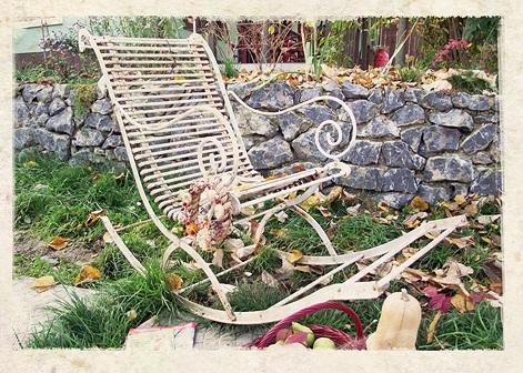 Jardin Furniture - Meuble de jardin en fer forgé ou en bois.