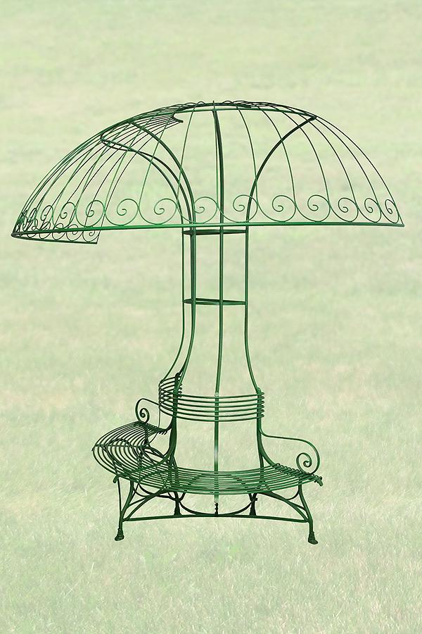 Banc jardin - Table de jardin avec parasol ...