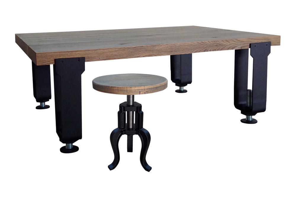 Table Tsi Salon Style Industrielle De GSzVqUMp